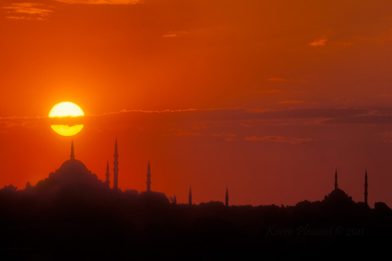 Sunset over Istanbul, Turkey