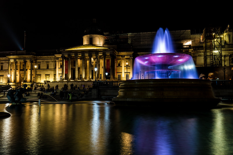 Night Photography In Trafalgar Square