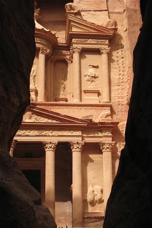 A view of the Treasury.  Petra, Jordan