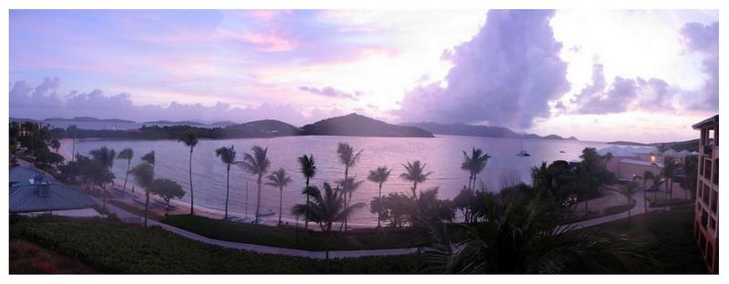 St John sunrise panoramic