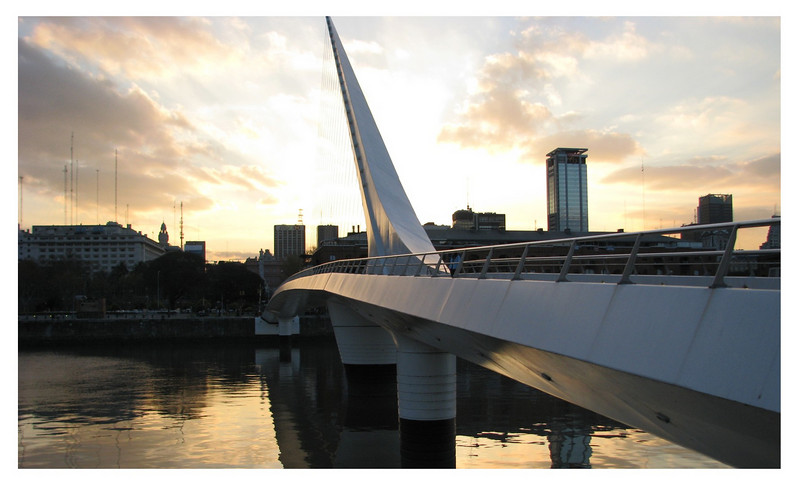 BA bridge at sunset