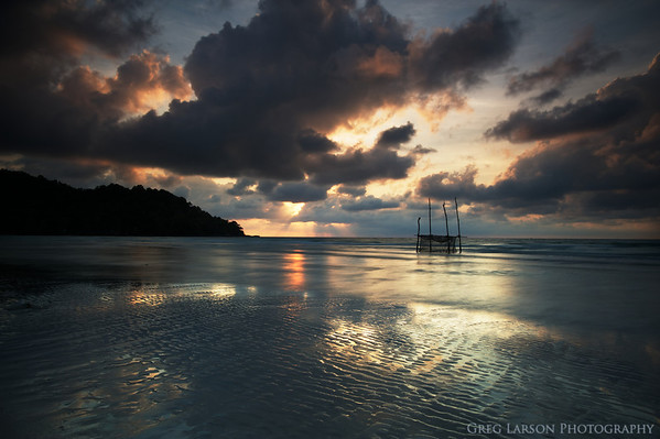 Sunrise on Phu Quoc Island, Vietnam.