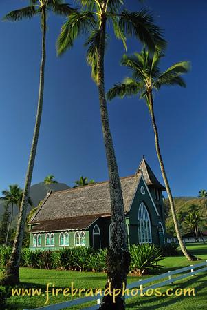Green Church<br /> Hanalei, Kauai, Hawaii