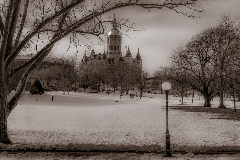 Connecticut Capitol, Days of Old, by David Everett
