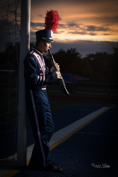 Warren Cousino Band Senior Portrait