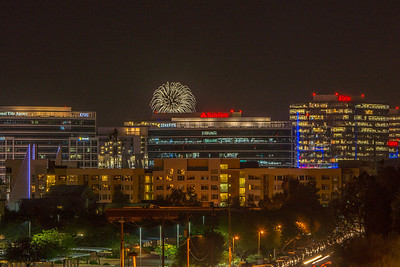 Tempe Town Lake Fireworks July 4 2017