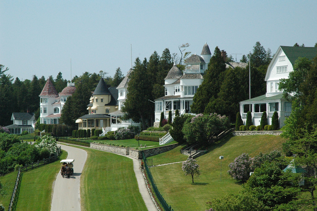 Mackinac Island.  Our view from our suite at The Grand Hotel