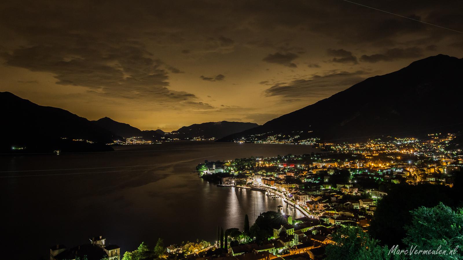 Gravedona di notte, Lago di Como