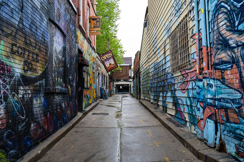 Graffiti alley in Kensington Market area, Toronto