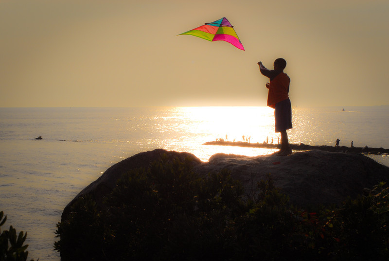 Boy with Kite, by David Everett