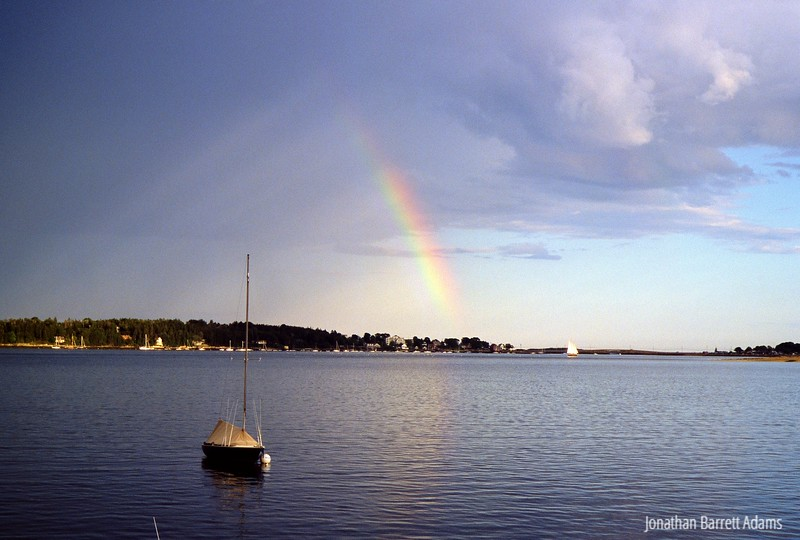 "Double Rainbow with the Schooner ""Alert"""