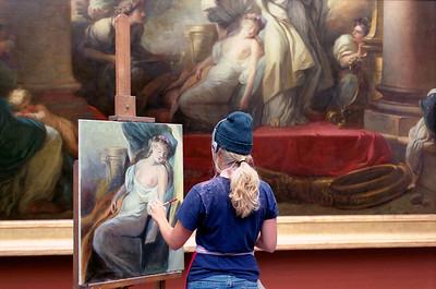 MUSEE DU LOUVRE - Copiste