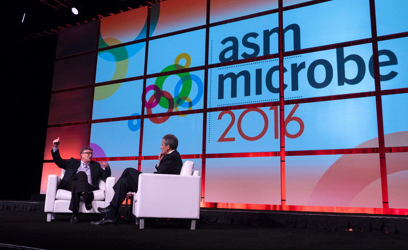 Bill Gates answers questions from Richard Besser; Chief Health and Medical Editor, ABC News, during Opening Keynote Session