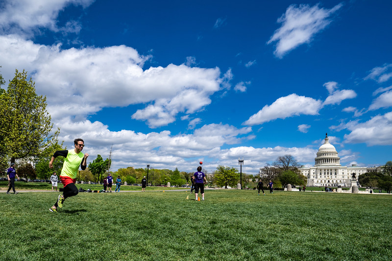 Kickball on the Capital lawn