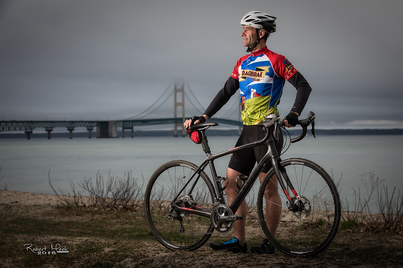 Mackinaw Cyclist