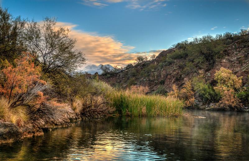 Saguaro Lake in December, Arizona