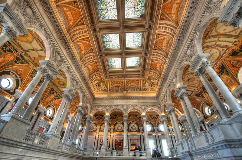Gorgeous ceilings of the Library of Congress