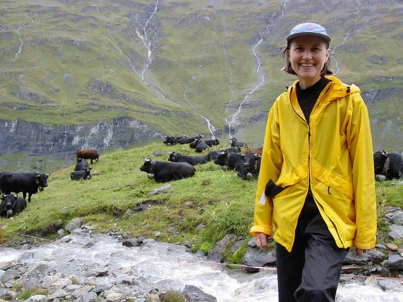 Jean and some cows above Mauvoisin