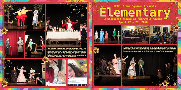 REACH Drama Squared Presents Elementary: A Whodunnit Riddle of Fairytale Mayhem (entire two page spread)