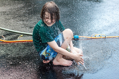 Water Play on the Driveway