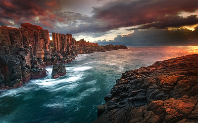 Sunrise on the Quarry Ruins - Bombo NSW.