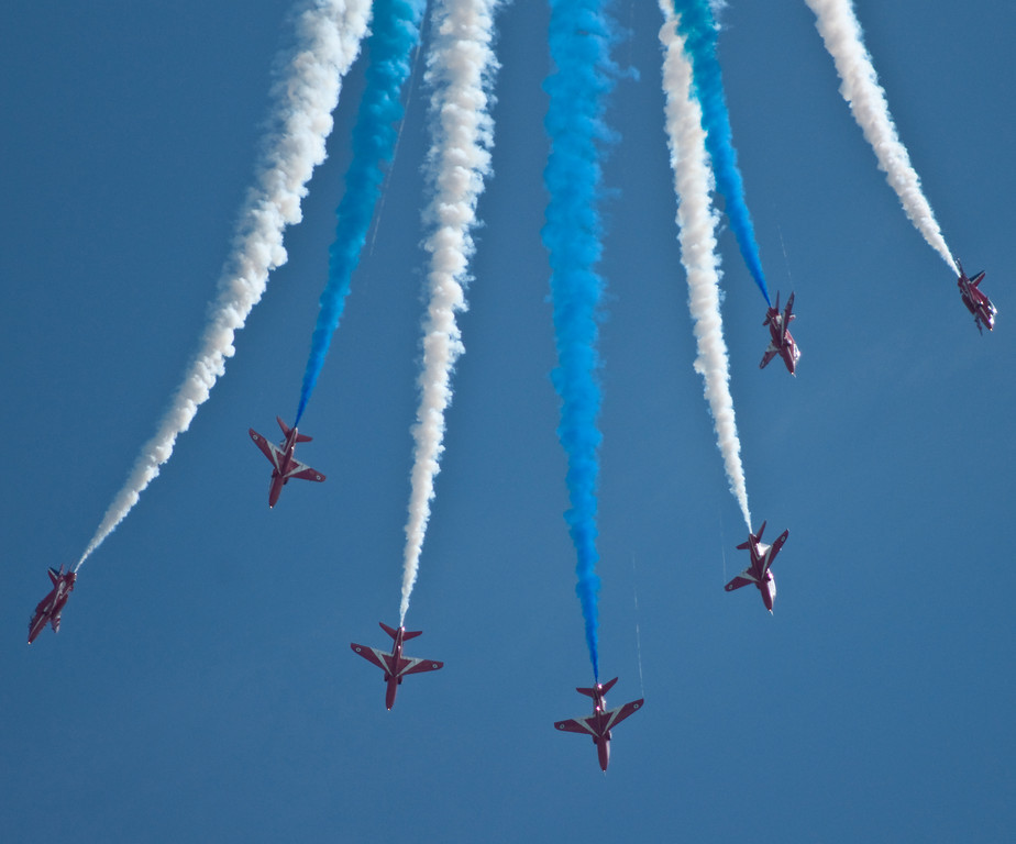 Red Arrows at RAF Cosford Air Show, 2009
