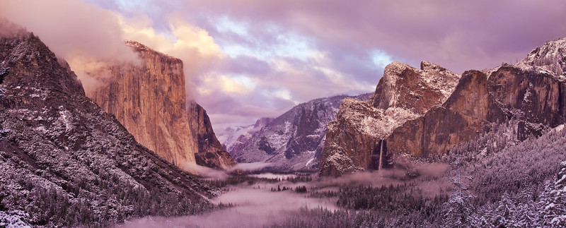 Tunnel View in Winter - IMG#0700