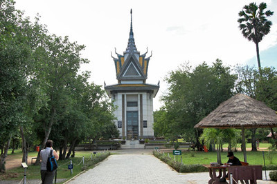 Choeung Ek Genocidal Center, site of mass graves from Khmer Rouge years