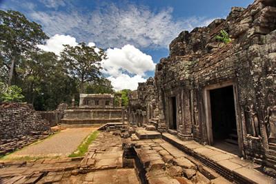 Entrance to Bayon temple, Angkor Thom