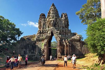 South Gate at Angkor Thom ruins