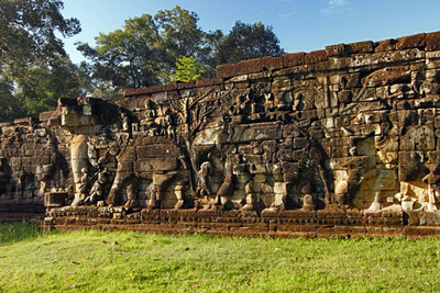 Elephant Terrace at Angkor Thom