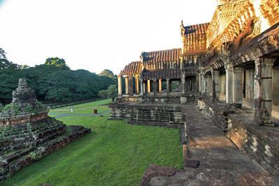 Early light turns Angkor Wat golden