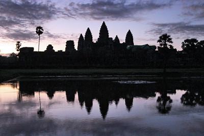 Sunrise reflection at Angkor Wat