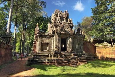 Leper King Terrace at Angkor Thom ruins