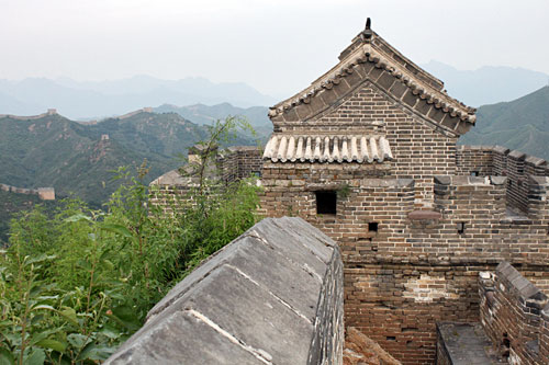 Little Jinshanling Watchtower, with original clay roof tiles