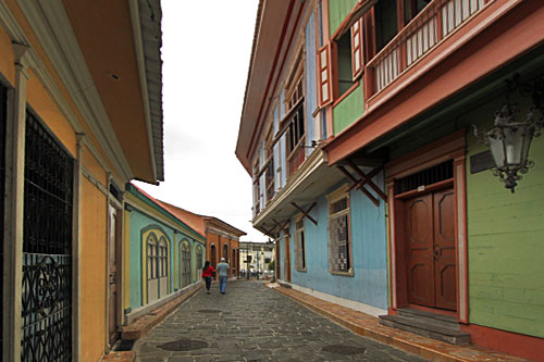 Old neighborhood of Las Penas is home to cafes and art galleries