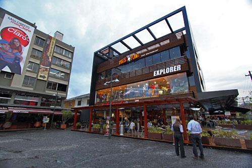 Plaza Foch in the tourist area of La Mariscal