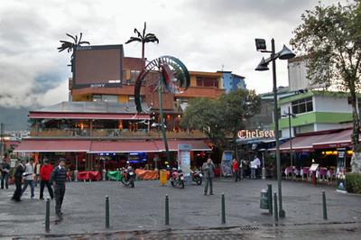 Tourist area of La Mariscal, Quito