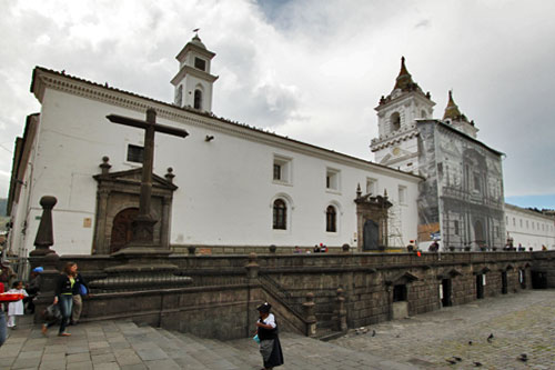 Convento de la San Francisco in Old Town, Quito