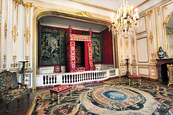 Bedroom at Chambord Estate, one of the magnificent chateau in the Loire Valley of France