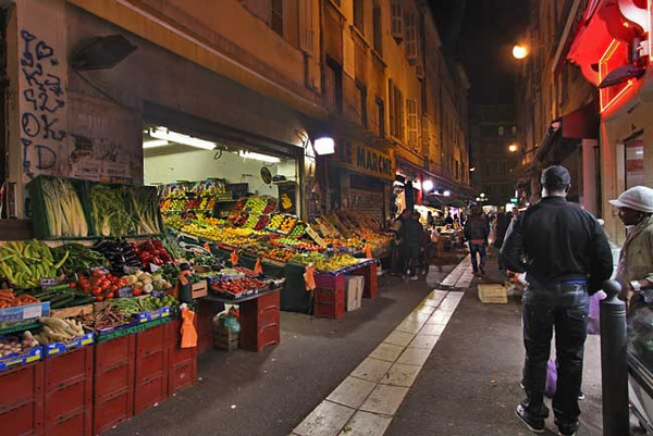 Everything from shoes to fresh vegetables, available each night at the Algerian night market