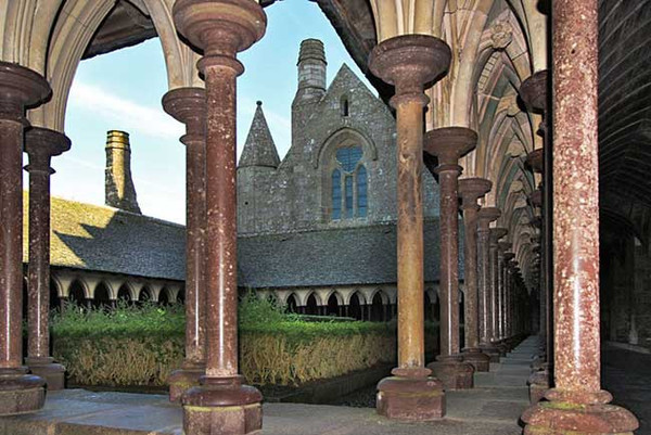 Cloisters at Mont Saint Michel Abbey