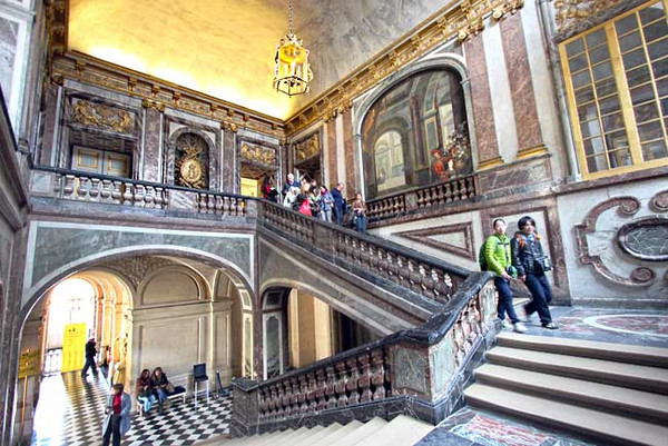 Staircase inside Versailles Palace