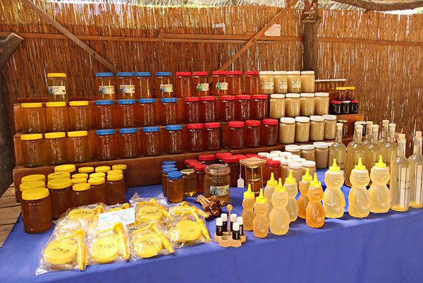 Honey from local hives tastes of wildflowers