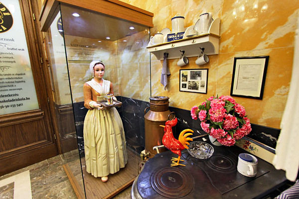 Life-size female figure sculptured out of marzipan at Szamos Gourmet Palace