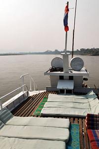 Cruising the mighty Mekong River in Laos
