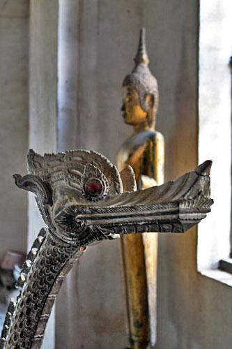 Art collection at Wat Visounnarath