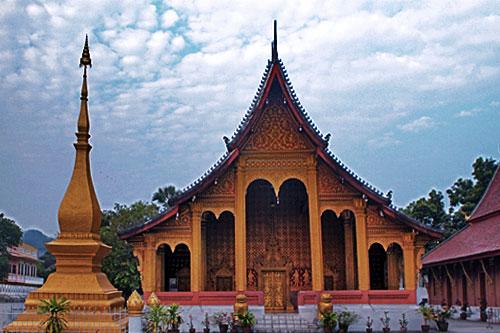 Wat Sene Souk Haram at sunset