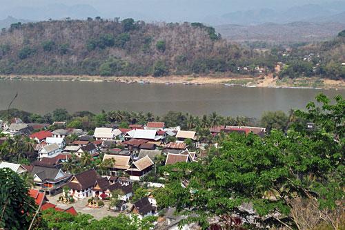 View of Luang Prabang from Phousi Mount