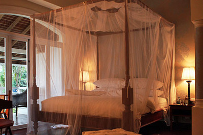 King Size bed with netting in Pioneer Suite
